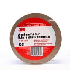 3M™ Aluminum Foil Tape 3381 Silver, 72 mm x 45 m 2.7 mil