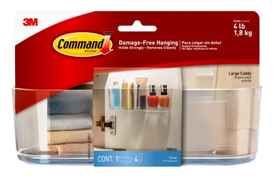 HOM15CLR-CABES, Command™ Clear Large Caddy with Clear Strips