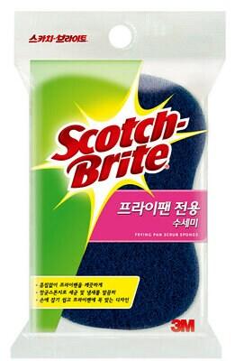 스카치브라이트 프라이팬 전용 수세미 2입