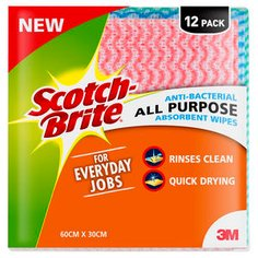Scotch-Brite Anti-Bacterial All Purpose Absorbent Wipes_1