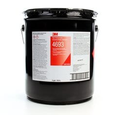 3M™ High Perf Industrial Plastic Adh 4693 lgt Amber, 5 gal pail