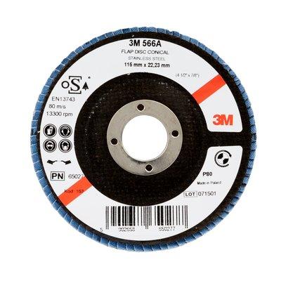 3M™ Liuskalaikka 566A, viistetty, P80, 115mm, 100/pakk