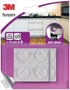 3M Schockdempende meubelbuffer, Transparant, 8 doppen, 19mm