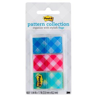Post-it(R) Pattern Flags 680-PLAID2 23.8mm x 43.2mm