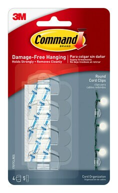 17017CLRES Command(TM) Clear Round Cord Clips