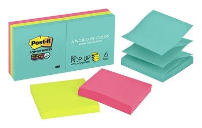Post-it® Pop-up Notes R330-6SSMIA SS PPUP NT 3INX3IN MIA 6PAD
