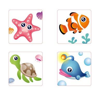 3M™ 防滑貼片 - 海洋生物, 裸片, 300片/箱