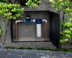 Filtro Aqualar Aquatotal instalado no cavalete