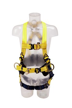 3M™ DBI-SALA® Delta™ Harness, Belt and Central Belt D-ring 1112921, Yellow, Universal Front Cut Out