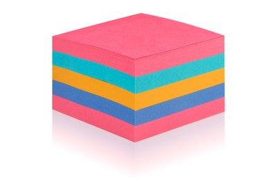 Post-it® Syper Sticky Rainbow Cube, 76 x 76 mm, 440 blad 2028SSO