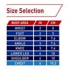 Elastic Bandage Size Chart
