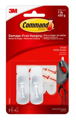Command™ 2 Hook 4 Strip, Small