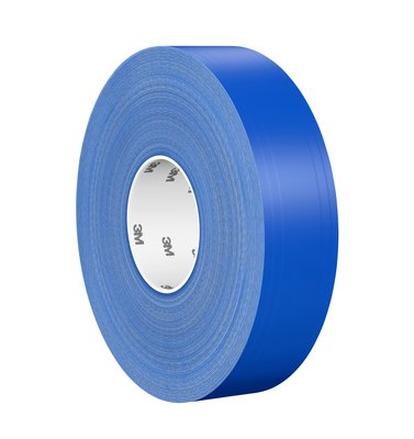 "3M™ Ultra Durable Floor Marking Tape 971 2"" Blue Left"