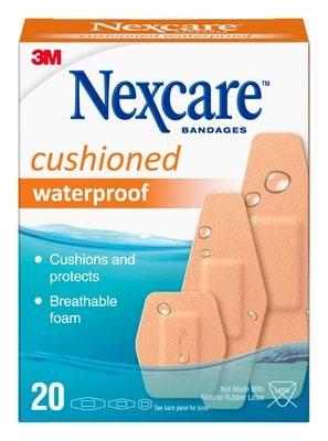 Cushioned Waterproof Bandages, 20ct, 3 Sizes