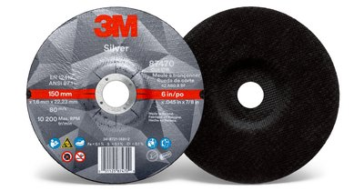 3M™ Silver Cut-off Wheel 87470 Front Back