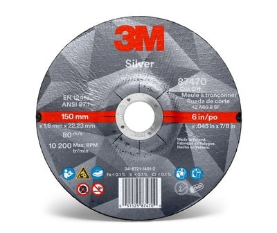 3M™ Silver Cut-off Wheel 87470 Front