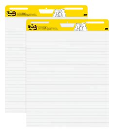 Post-it(R) Super Sticky Easel Pad Lined, 30 Sheets-Pad, 2 Pads