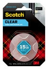 Scotch® Clear Double-Sided Mounting Tape 410S, 1 in x 60 in (2,54 cm x 1,52 m) EA