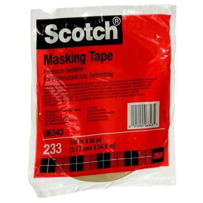 Scotch® Automotive Refinish Masking Tape 233, 06343