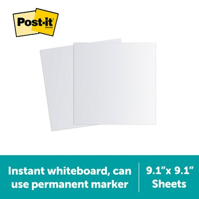 Post-it Flex Write Surface Sheet is an instant whiteboard you can use permanent marker on.