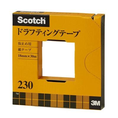スコッチ® ドラフティングテープ 230-3-18, 大巻, 18 mm x 30 m, 40 巻/箱