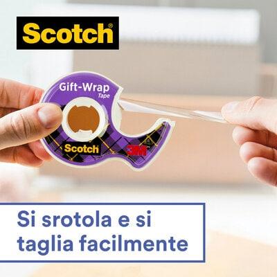 Scotch® Gift-Wrap Tape: Si srotola e si taglia facilmente