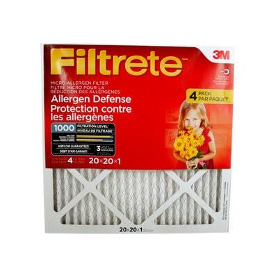 Filtre micro « Protection contre les allergènes » 9802DC-4PK Filtrete(MC), MPR 1000