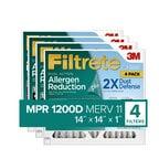 Filtrete™ Allergen Reduction Plus Dust Filter 1111Plus4PK-SC, 14 in x 14 in x 1 in