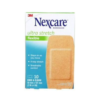 Nexcare(TM) Ultra Stretch Bandages Knee & Elbow CS103-CA,10pk