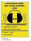 3M(TM) Diamond Grade(TM) Safety Sign HAZRD MUFFS