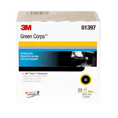 3M(TM) Green Corps(TM) Roloc(TM) Discs 01397
