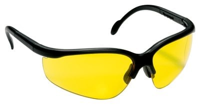 XF4 Safety Glasses, Black Frame, Yellow Lens 90959-00002