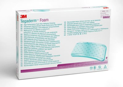 Tegaderm Foam Dressing (nonadhesive), 90602 - white background