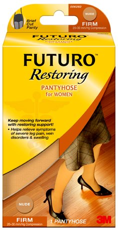 FUTURO™ Restoring Pantyhose for Women, brief cut, nude