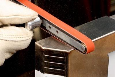 Image of a File Belt Sander in use.