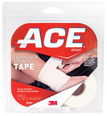 ACE(TM) Brand Sports Tape, 1.5 inch x 10 yds., 4 Pack