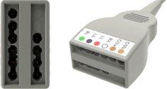 ECG Cables, 10-Lead Yoke (6+4), Universal Din, YMC10MT64