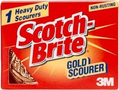 Scotch-Brite Gold Scourer 1/pk 12/ctn