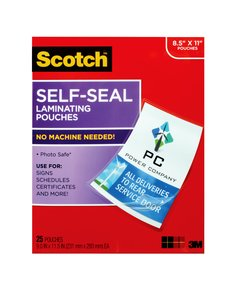 LS854-25G Scotch(TM) Self-Seal Laminating Pouches