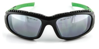 3M Safety Sunwear SS1514AS-B Blk/GrnFrm SlvrMrror AS Lns 10ea/cs