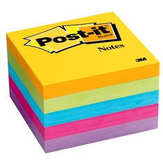 Notas Post-it®  Cubo 654 colores Ultra