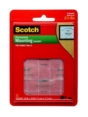 Scotch (R) Permanent Mounting Squares 854