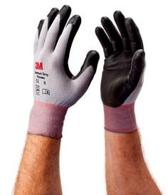 3M(TM) Comfort Grip Gloves General Use EN388, on hands, 3D