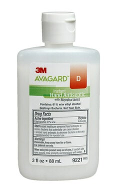 3MTM AvagardTM D Instant Hand Antiseptic with Moisturizers, 9221