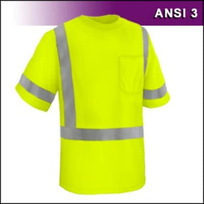 Reflective Apparel Factory RAF 104-ST-LM Safety Shirt